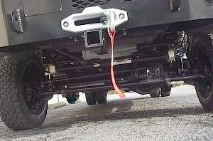 Whitefeather front suspension under a 2017 Class C RV