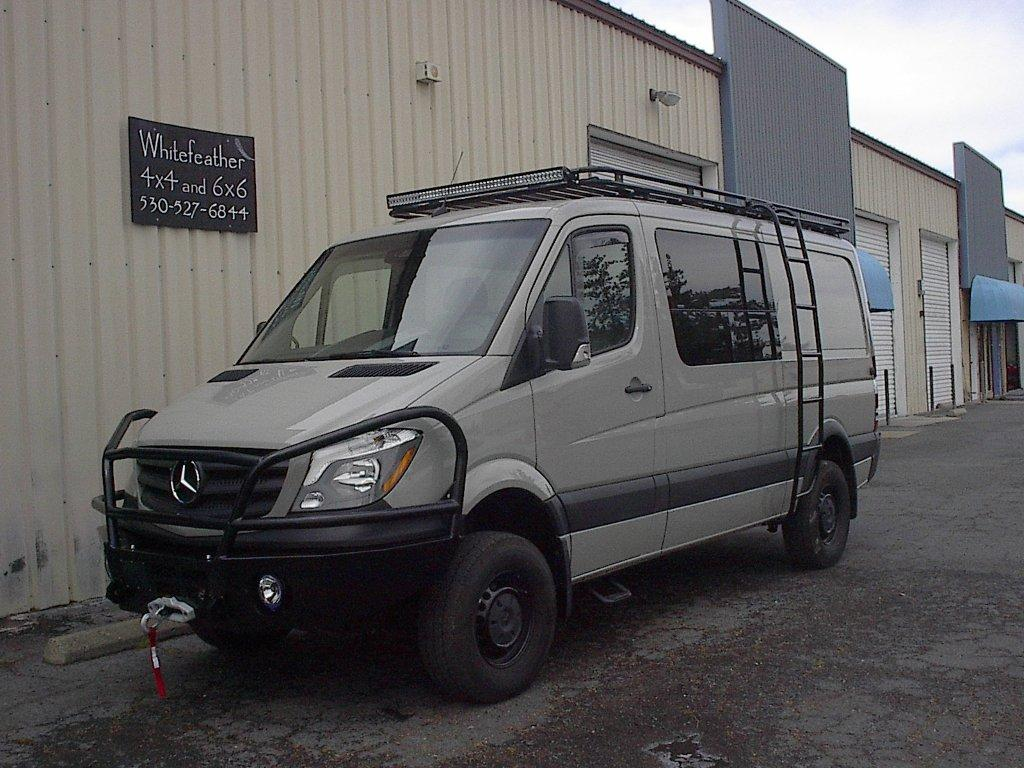 Ladder Roof Rack >> Gallery | Whitefeather 4×4 Van Conversions